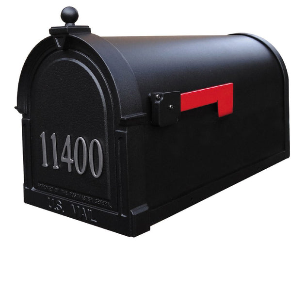 Special Lite Products Berkshire Curbside Customized Post Mount Mailbox in Black