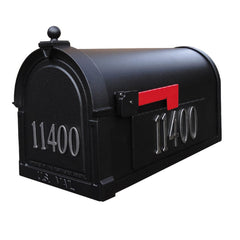 Special Lite Custom Mailbox in Black and silver numbers
