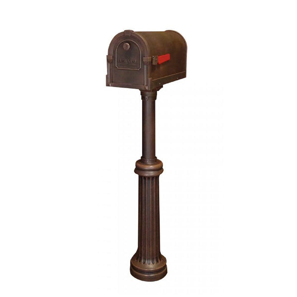 Special Lite Products Savannah Curbside Mailbox with Bradford Direct Burial Mailbox Post
