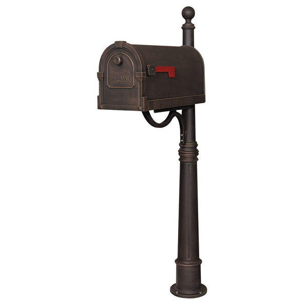 Special Lite Savannah Curbside Mailbox with Ashland Mailbox Post