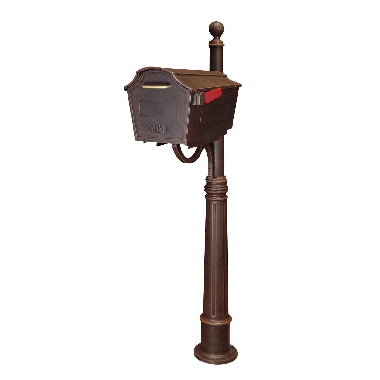 Special Lite Town Square Curbside Mailbox With Ashland