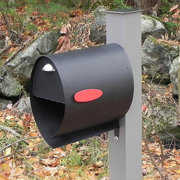 Spira Large Post Mount Mailbox Bundle in Stainless Steel or Matte Black