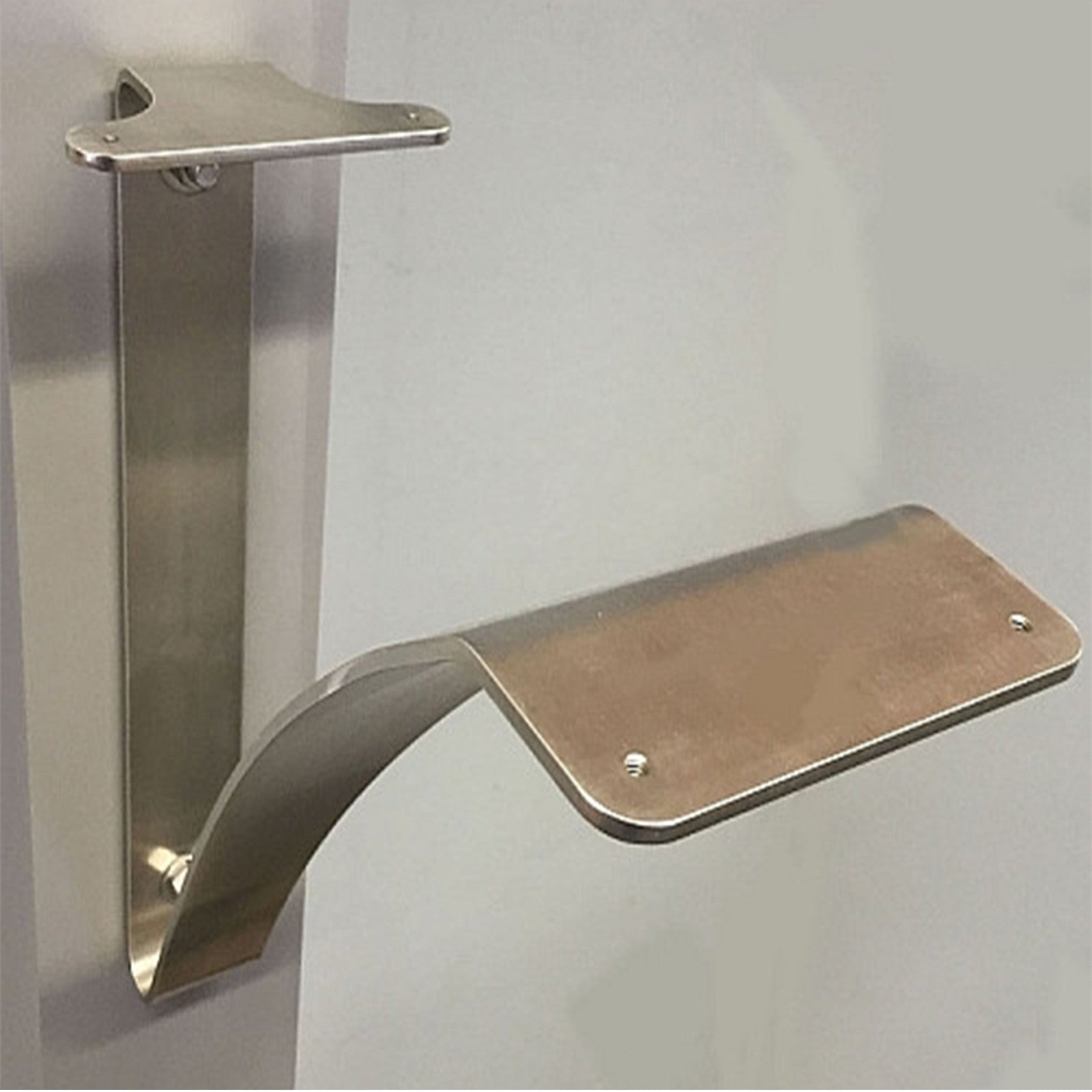 Spira Mailbox Post Bracket In Brushed Stainless Steel