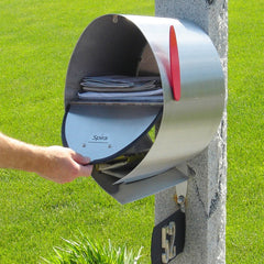 Spira Post Mounted Mailbox, Stainless Steel; SPA-M001SS