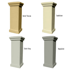 QualArc Manchester Stucco Column Mailbox with Address Plate Fully Customizable