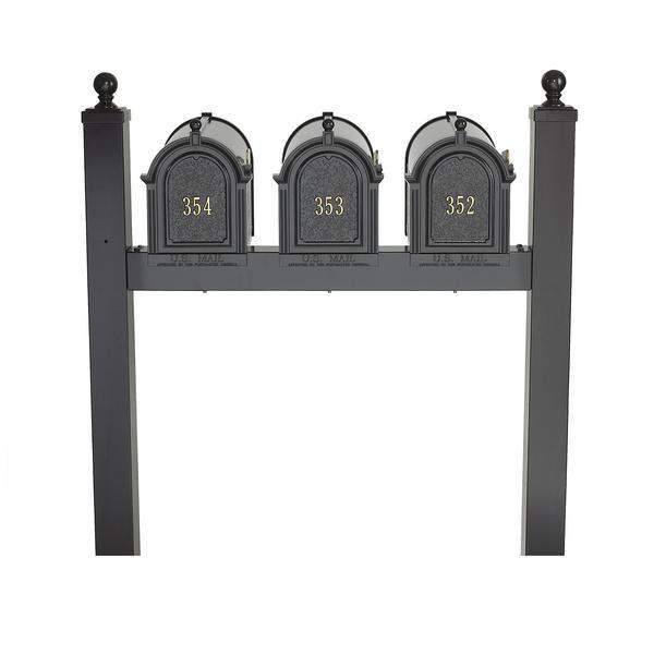 Whitehall Products Personalized Multi Mailbox Triple 3