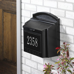 Whitehall Wall Mount Mailbox with customized address plaque