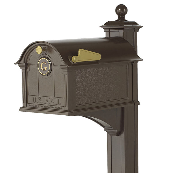 Whitehall Balmoral Monogram Mailbox with Post