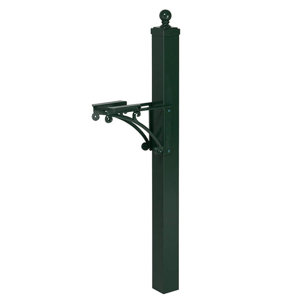 Whitehall Deluxe Mailbox Post with Brackets and Ball Finial