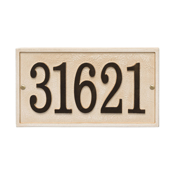 Whitehall Products Personalized Stonework House Numbers Address Plaque