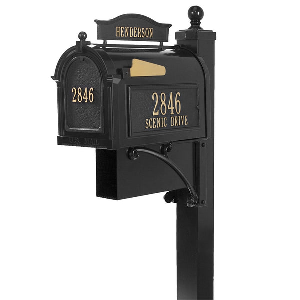 Whitehall Ultimate Capitol Custom Mailbox with Address and Name Plaque