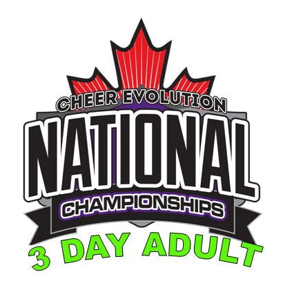 Beach Cheer Athletics - Adult 3 Day Pass
