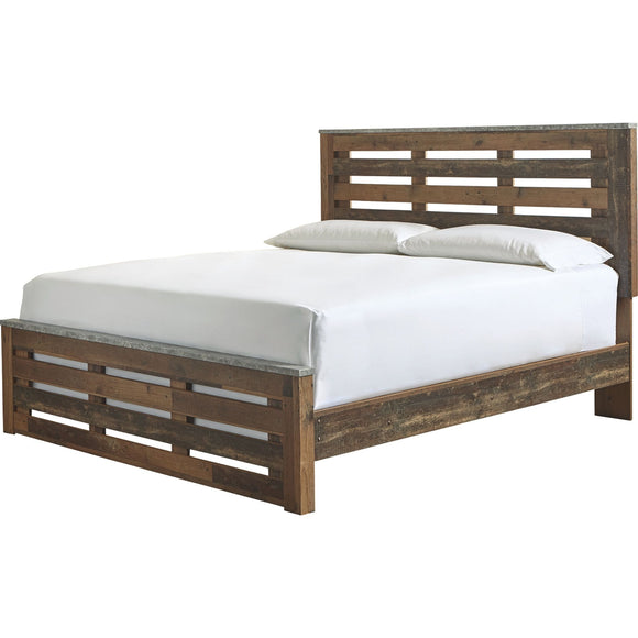 Glen Eagle 3 Piece King Panel Bed - Brown