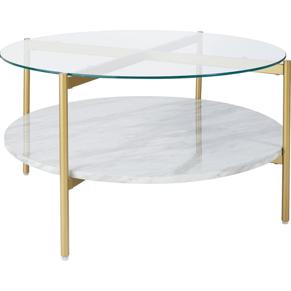 Wynora Coffee Table - White/Gold