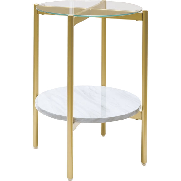 Wynora End Table - White/Gold