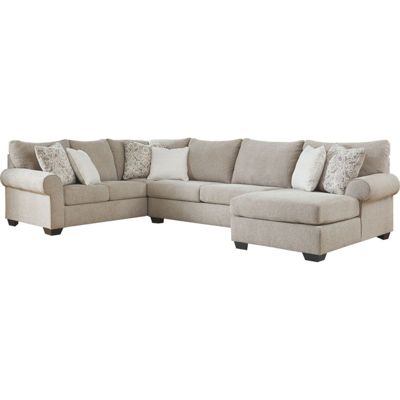 Baranello 3 Piece Sectional - Stone