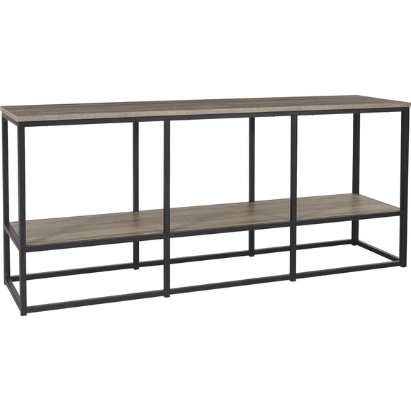 Wadeworth Extra Large TV Stand - Brown/Black