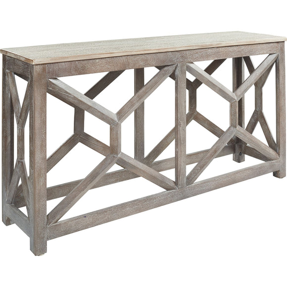 Lanzburg  Accent Table - Antique Gray