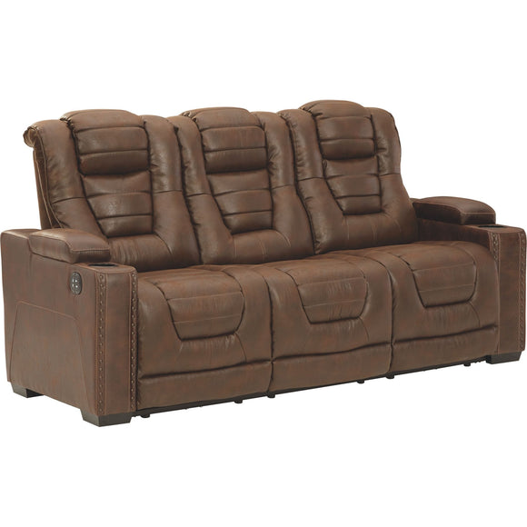 Owner's Box Power Reclining Sofa - Brown/Beige