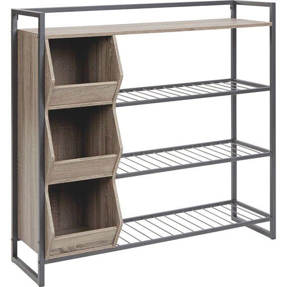 Maccenet Storage Unit - Brown/Beige