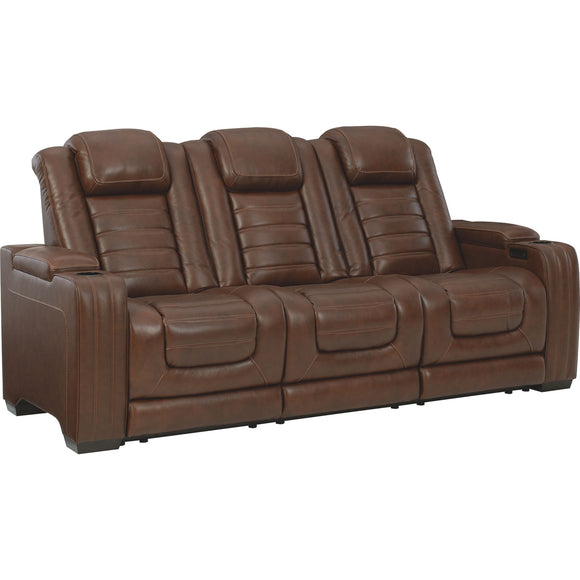 Backtrack Power Reclining Sofa - Chocolate