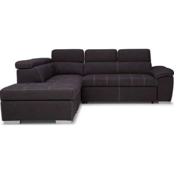 GIANLUCA SOFA BED 3 Piece Media Sleeper - Charcoal