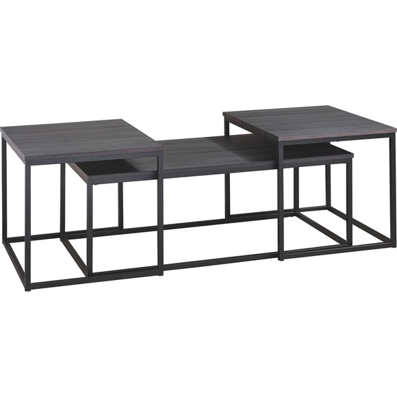 Left Bank 3 Pack Tables - Black/Gray