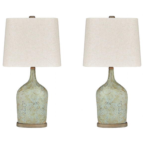 Maribeth Table Lamp Pair - Sage