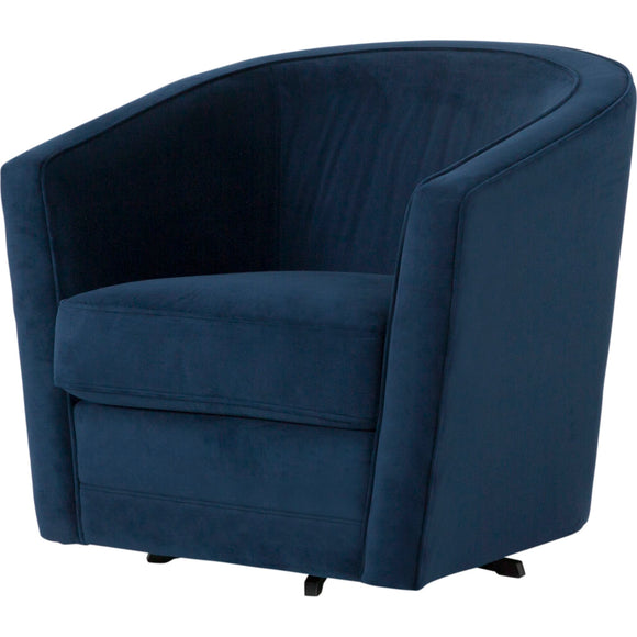 Alice Swivel Chair - Navy