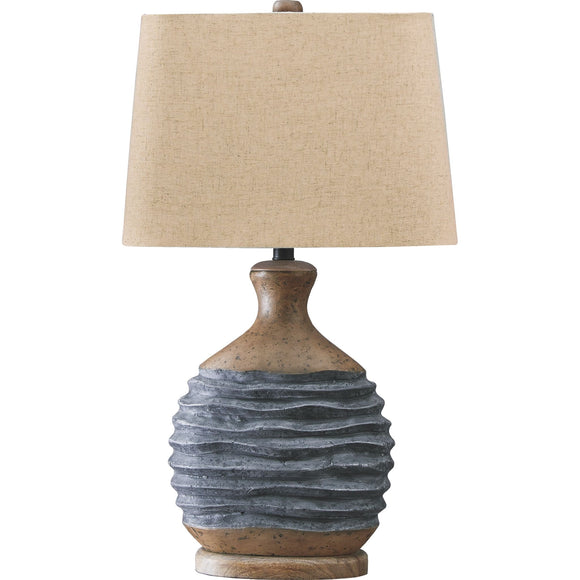 Medlin Table Lamp - Blue/Brown