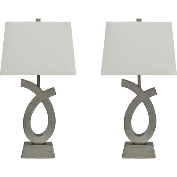 Amayeta  Table Lamp Pair - Silver