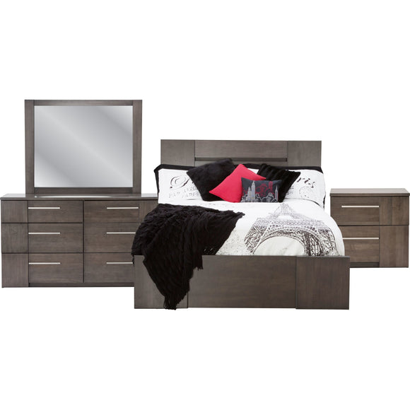 Milano 7 Piece Queen Bedroom - Graphite