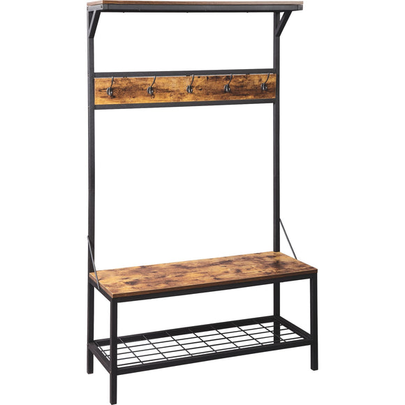 Bevinfield Storage Bench - Brown/Black