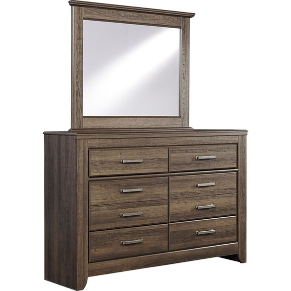 Juararo 2 Piece Dresser & Mirror - Dark Brown