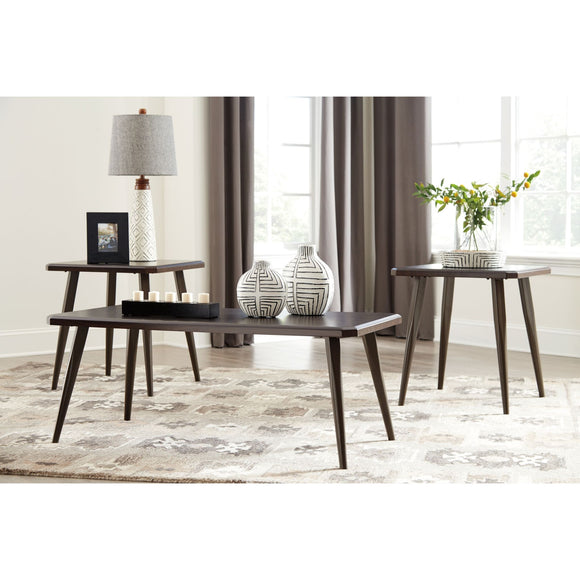 Fazani 3 Pack Tables - Dark Brown