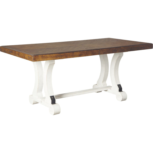 Valebeck Table - White/Brown