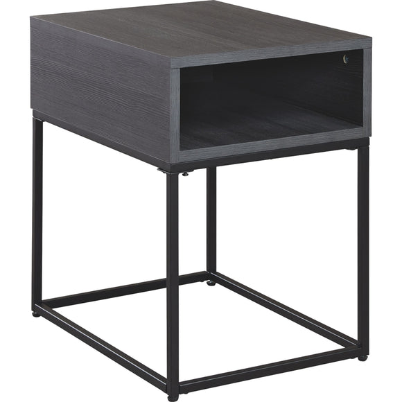 Left Bank End Table - Black