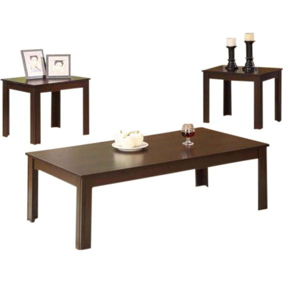 Linton 3 Pack Tables - Cappuccino