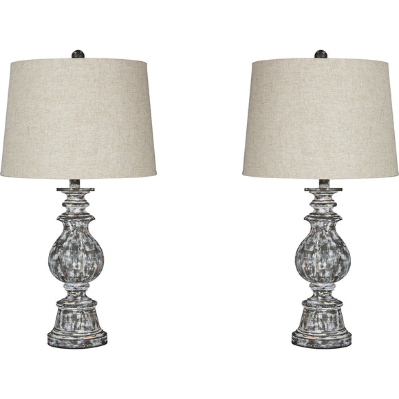 Macawi Table Lamp Pair - Brown/Beige