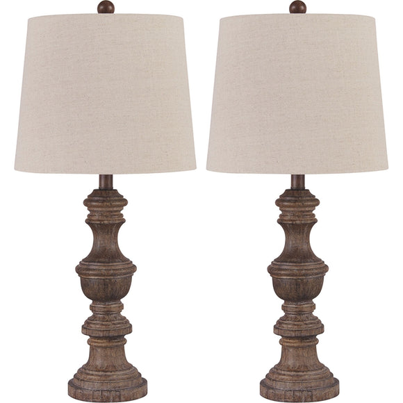 Magaly Table Lamp Pair - Brown