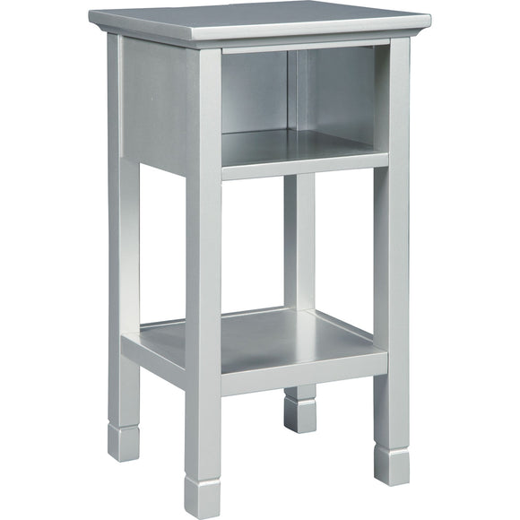 Marinville Accent Table - Silver Finish