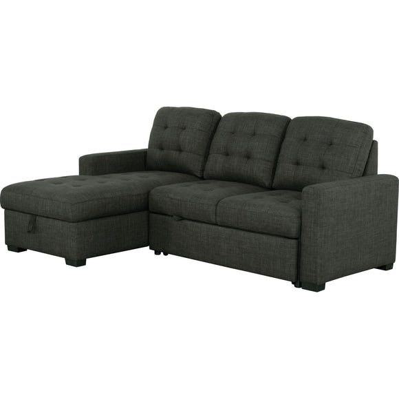 MONTEZ SOFA BED 2 Piece Media Sleeper - Charcoal