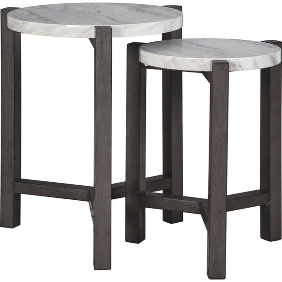 Crossport  Accent Table - Gray/White/Brown