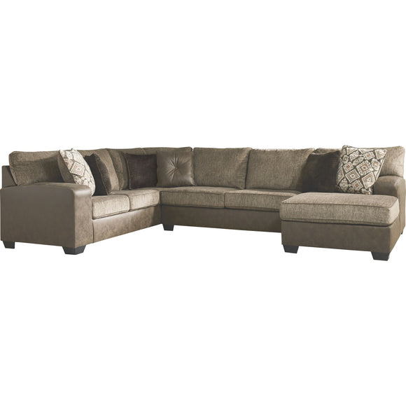 Abalone 3 Piece Sectional - Chocolate