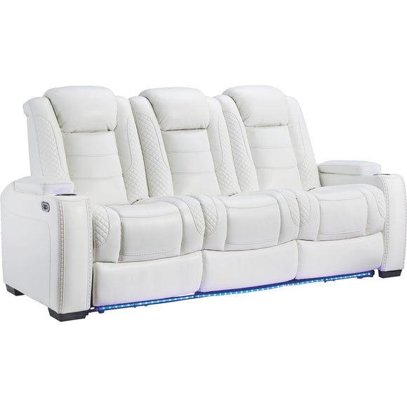 Party Time Power Reclining Sofa - White