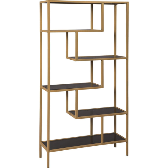Frankwell  Bookcase - Gold Finish