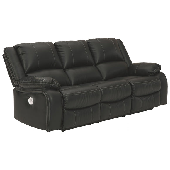 Calderwell Power Reclining Sofa - Black