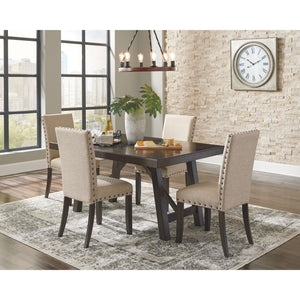 Rokane  5 Piece Dining Room - Medium Brown