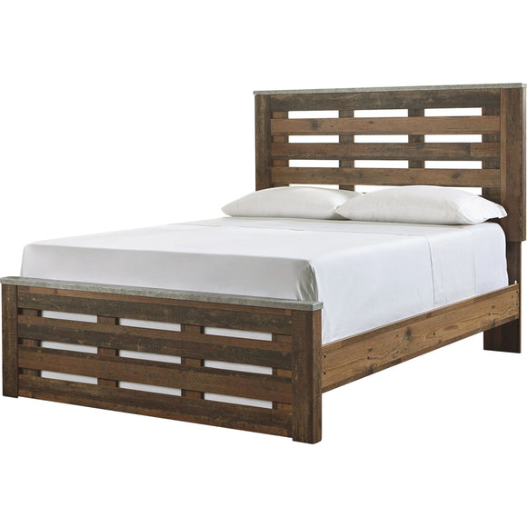 Glen Eagle 3 Piece Queen Panel Bed - Brown