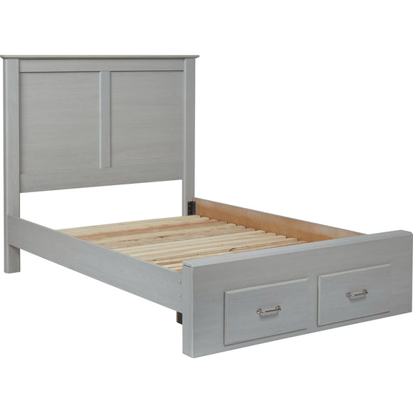 Bianco 4 Piece Full Storage Bed - Gray